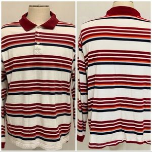 VYG 90s Rugby Polo Color-block Long Sleeve Shirt